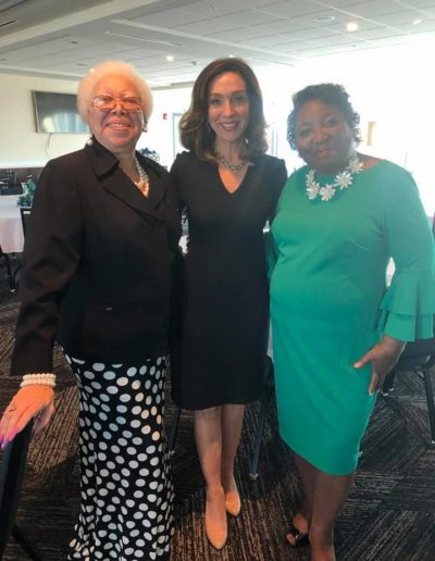 Leona Perry, US Senate Candidate Teresa Tomlinson, and guest